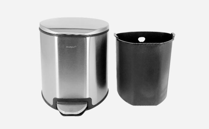 Office and Kitchen Stainless Steel Step Pedal Trash Can with Inner Bucket trash can-1.20