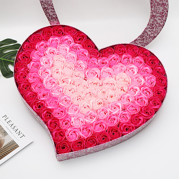 Heart Garden Soap Roses---WITH GIFT BOX&FREE SHIPPING