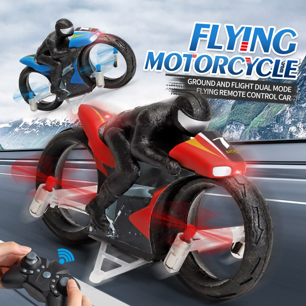 Remote Control Flying Motorcycle Toy-Land and Air Dual Mode