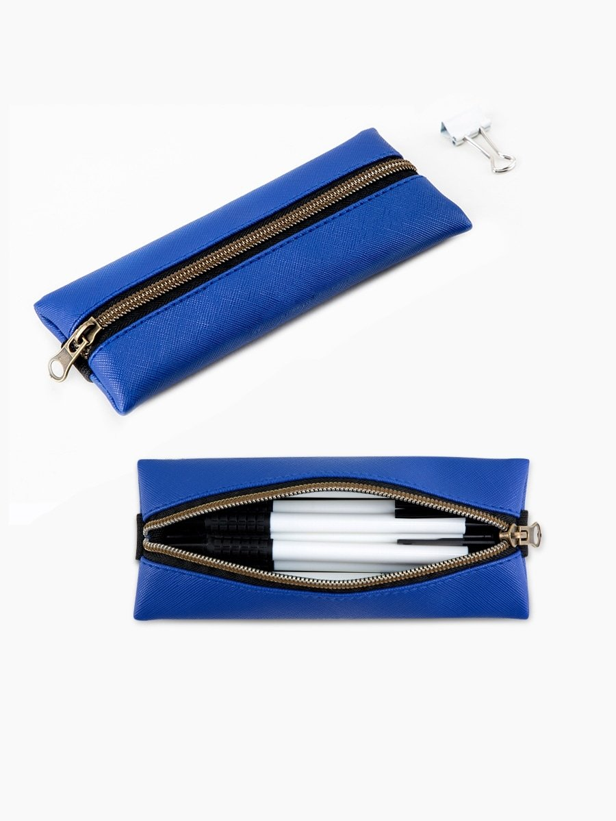 Pencil Zipper Bag With Elastic Band 1pc