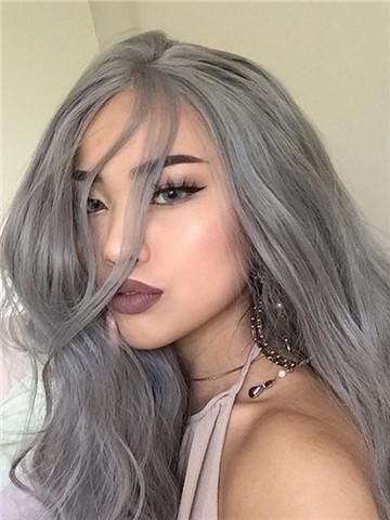 2020 New Gray Hair Wigs For African American Women Tokyo Stylez Wigs Ladies Grey Wigs Gray Cover Up Short Human Hair Afro Wigs Nagito Komaeda Wig