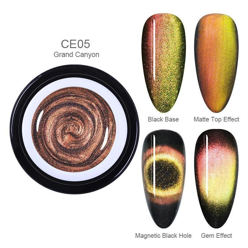 Holographic Magnetic Cat Eye Nailpolish