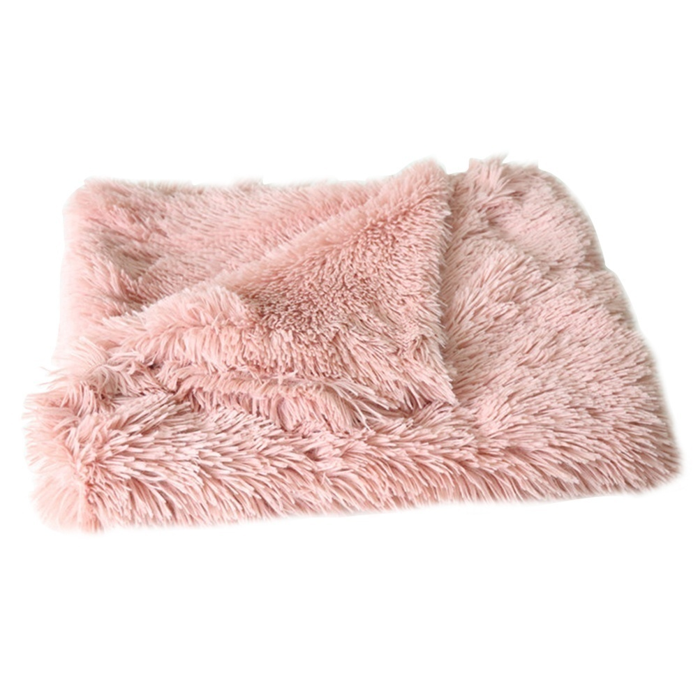 New Fluffy Soft Dog Plush Blanket King Size Cat Warm Pet Calming Bed Mat  Blankets for Beds for Big Dogs Pets Stuff Bedding Kennel Beds Accessories