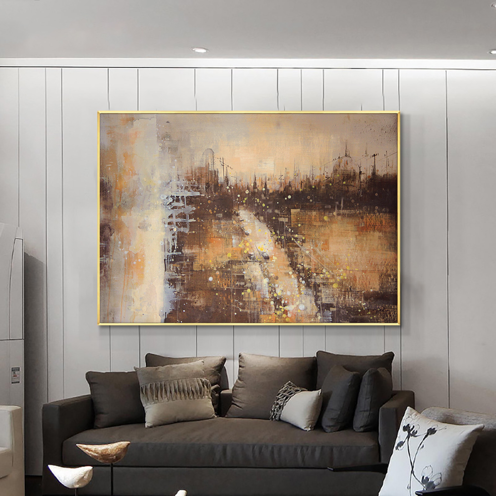 Abstract Landscape Paintings Hand Painted Oil Painting On Canvas Handmade Wall Art Modern Paintings Unframed For Home Decoration
