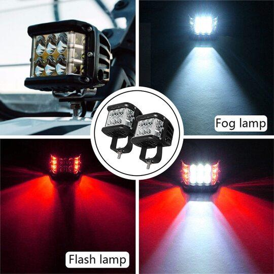 🔥(LIMITED SALE - SAVE 50% OFF-Only $19.99)🔥3.75'' Dual Side Shooter Dual Color Strobe Cree Pods for Truck ATV Boat