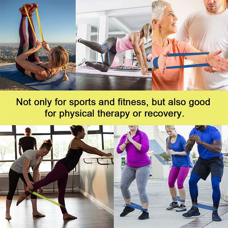 Elastic Loop Exercise Resistance Bands Set for Fitness Yoga Workout Home Gym Training Physiotherapy, Strength Latex Rubber Bands, Non-Slip Hip Circle Band