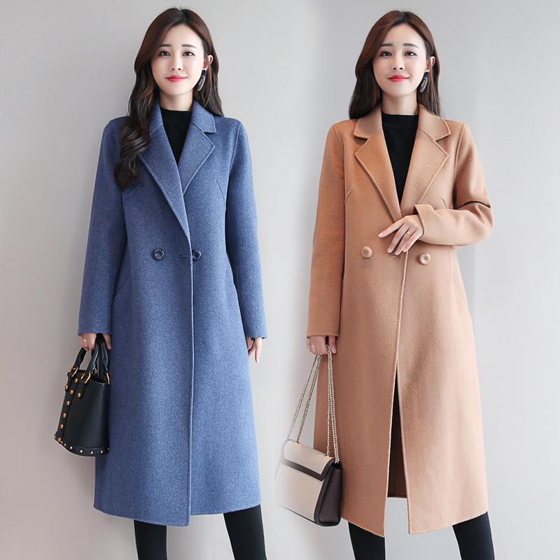 Korean fashion woolen overcoat