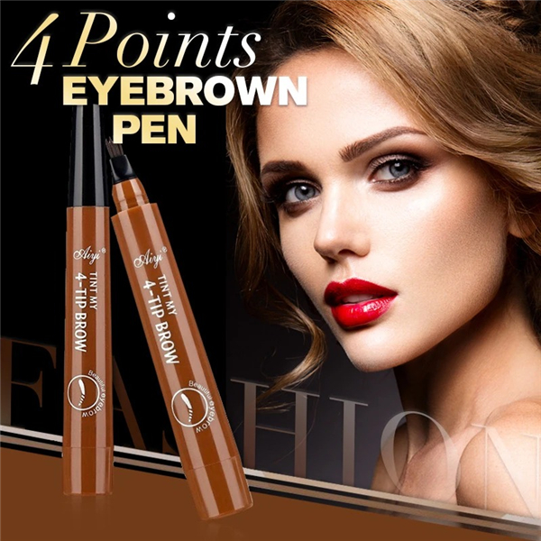 Last Day Promotion 50% OFF - Waterproof 4 Points Eyebrow Pen Natural Looking