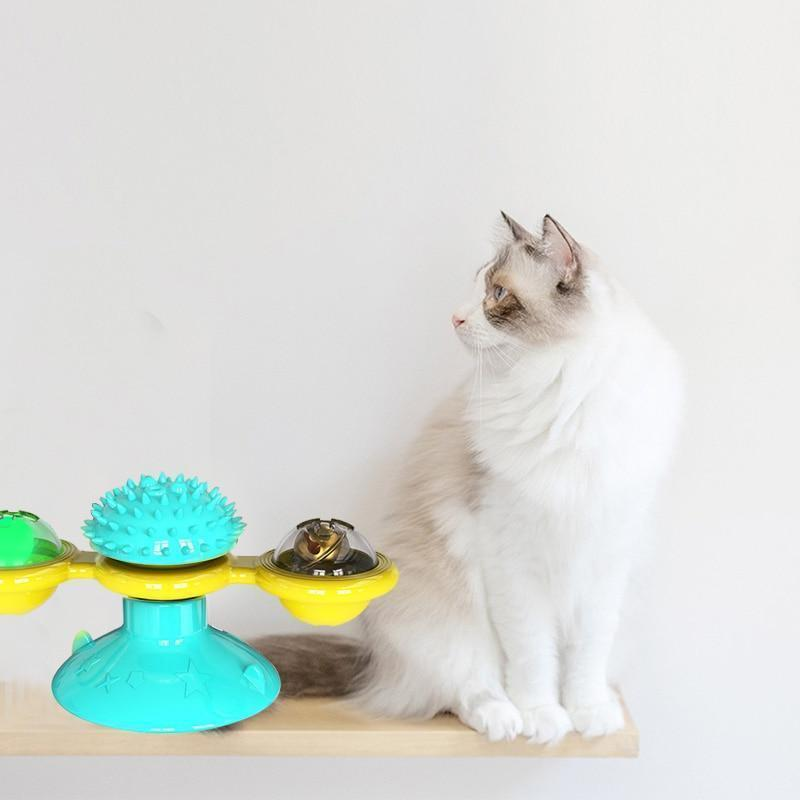 Cat Spinner Windmill Interactive Cat Toy | 3 Colour