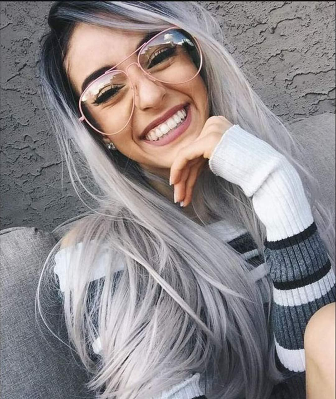 2020 New Gray Hair Wigs For African American Women Gray Hair In 20S Highlights And Lowlights For Grey Hair Grey Beard Wash Alice Wigs Silk Lace Wigs