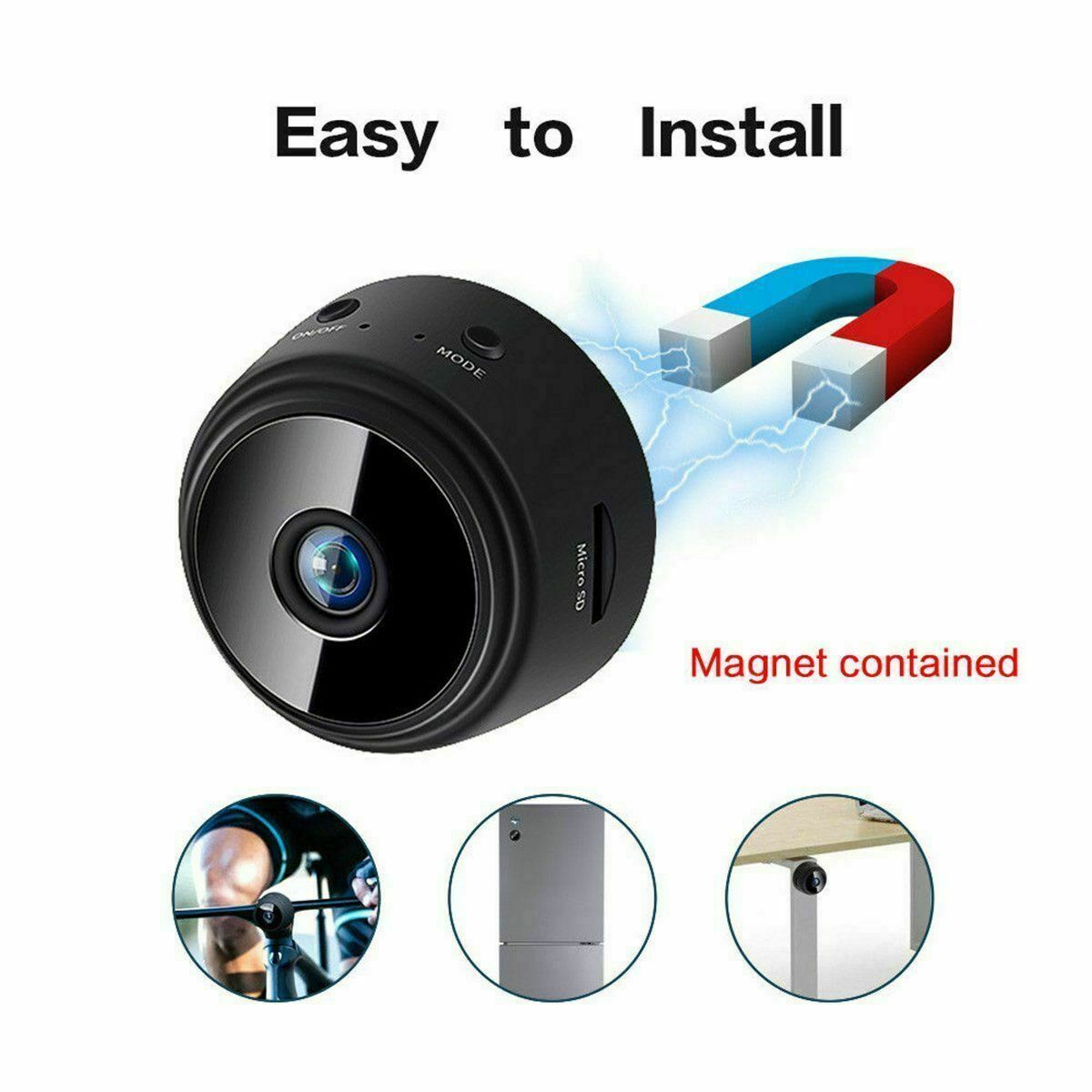1080P HD WIFI Remote Surveillance Camera Recorder