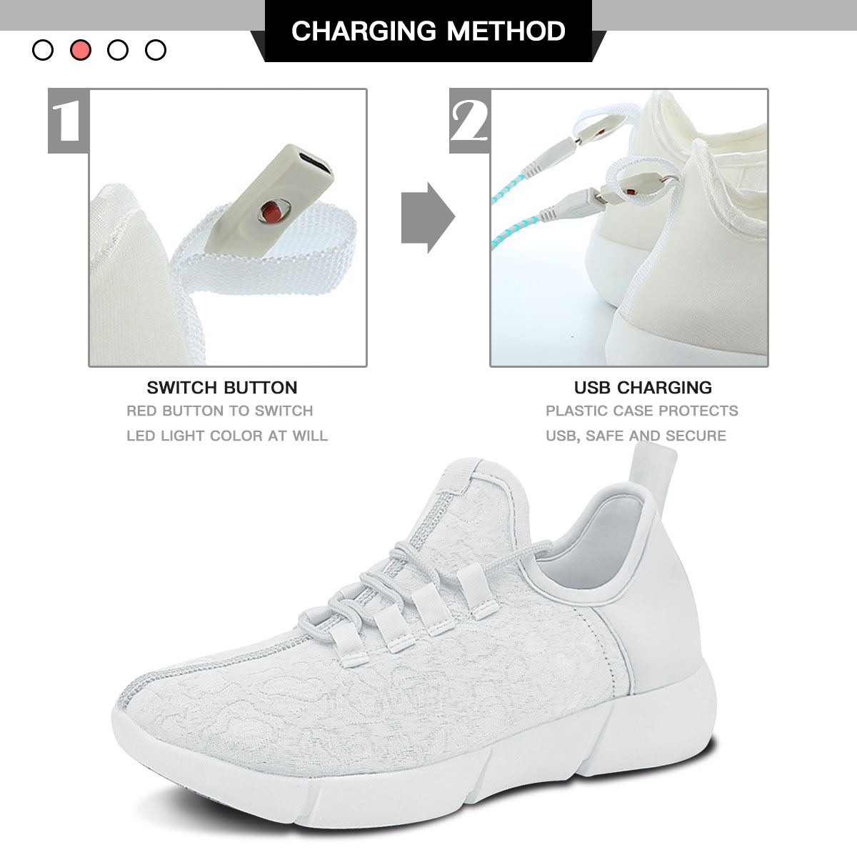 Size 25-47 New Summer Led Fiber Optic Unique Shoes for Girls Boys Men Women USB Recharge Glowing White Sneakers Man Light Up Shoes