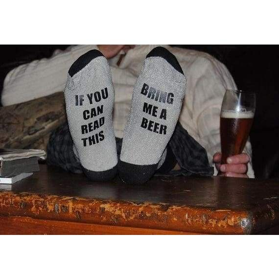 Personalised Socks If You Can Read This Bring Me A Beer Funy Socks Unisex Socks