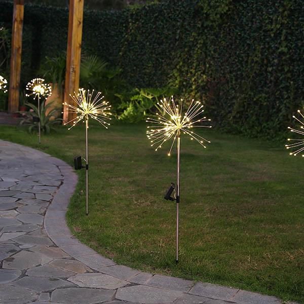🎄Only $19.99 Buy 2 Get 1 Free🎄Solar-Powered LED Firework Garden Stake