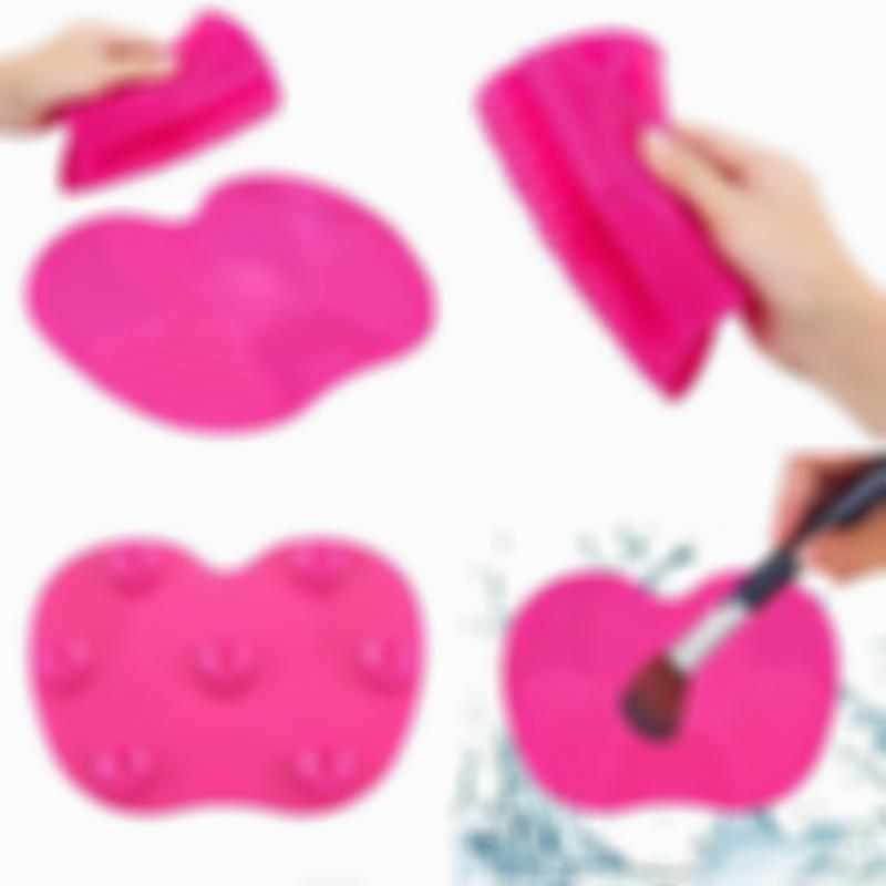Silica Gel Makeup Brush Cleaning Mat with Suction Cup