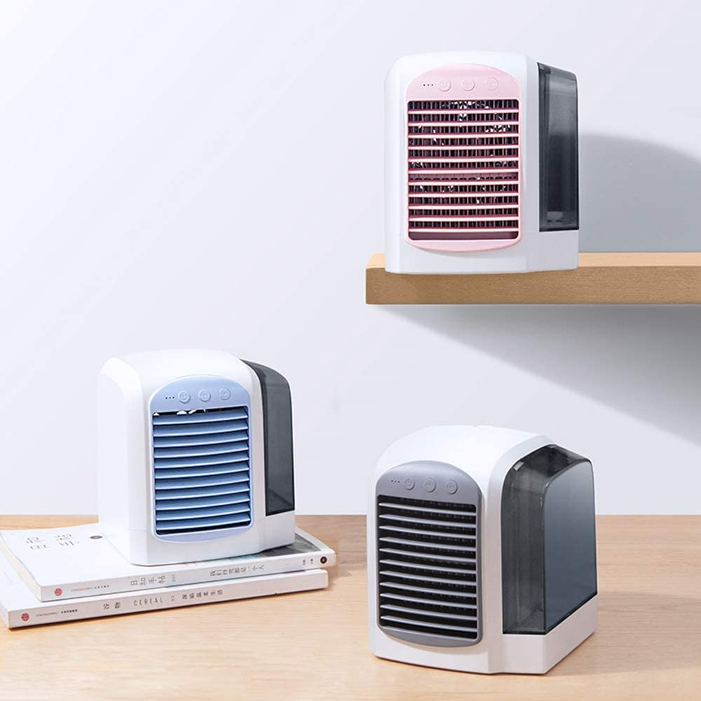 Personal Air Cooler, USB Mini Air Conditioner Fan, with Independent Water Tank