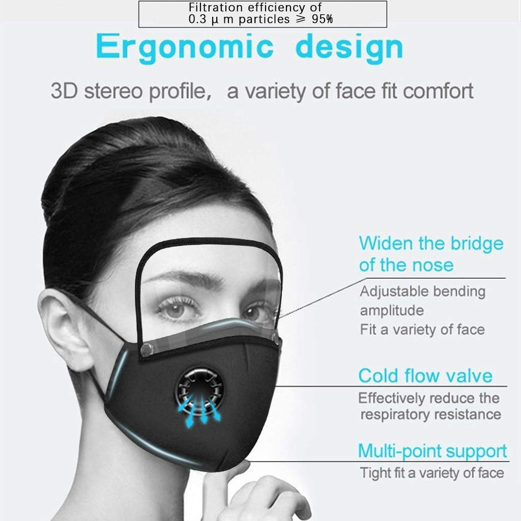 2-IN-1 Face Mask and Eyes Shield Washable