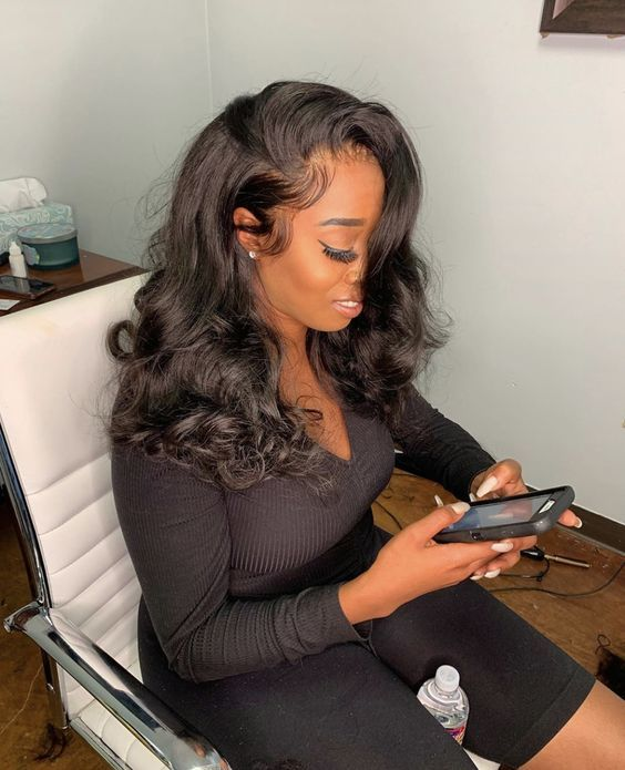 Black Wigs For Black Women Finger Wave Hairstyles For Short Black Hair Short Sassy Wigs For African American Short Wigs For Round Face African American Beach Wave Bob