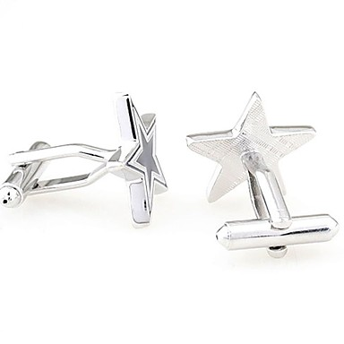 Cufflinks Classic Fashion Brooch Jewelry Silver For Daily Formal