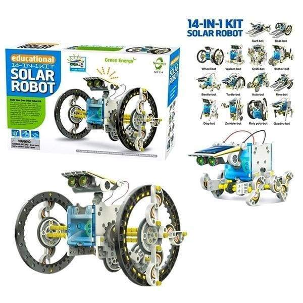 14-in-1 Solar Power Transforming Robot Kit Educational Toy