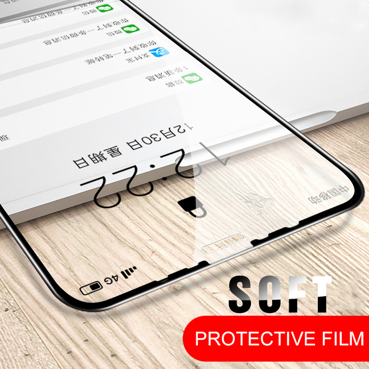 Soft Glass Ceramic Film for iPhone X XS XR 11 Pro Max Tempered Glass Film