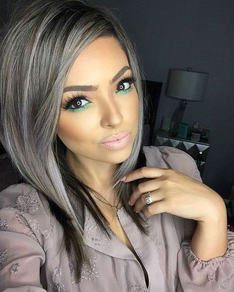Gray Hair Wigs For African American Women Brown Bob Wig Ombre Black And Grey Dark Grey Blonde Hair 360 Closure Wig Good Wigs Online