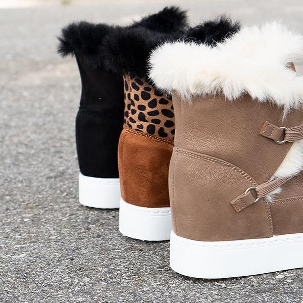 Corashoes Women Winter Wedge Boots