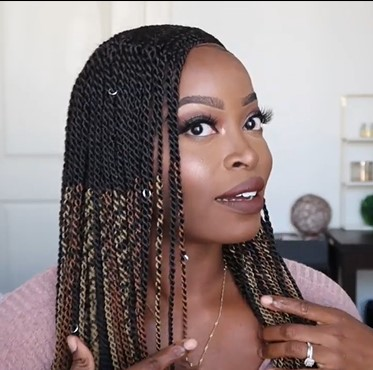 Super Natural 100% Hand-Braided Most Realistic Ombre Box Braid Wig