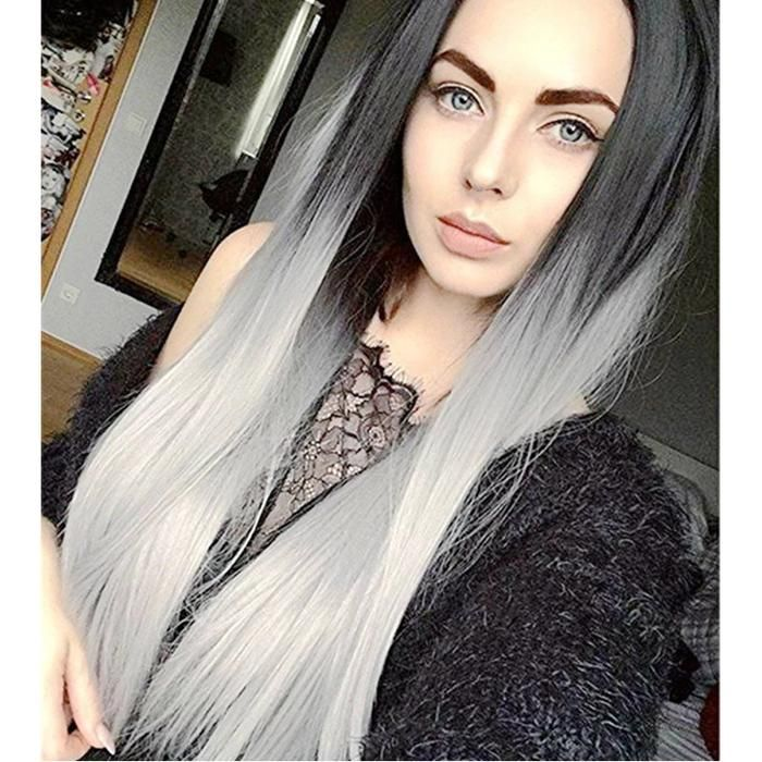 2020 New Gray Hair Wigs For African American Women Sasuke Wig Long Grey Wigs With Bangs Glueless Lace Wigs Josuke Wig Lowlights For Brown Hair Going Grey