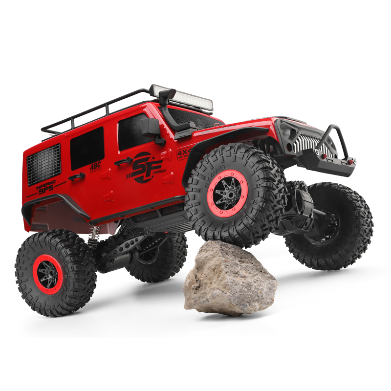 Wltoys 104311 1/10 2.4G 4X4 Crawler RC Car Desert Mountain Rock Jeep Models With Two Motors LED Head Light