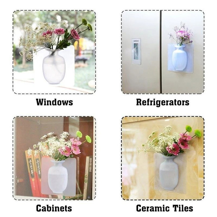 Last Day Promotion & 55%OFF - Removable Silicone Vases ( My New Favorite Wall Decor )