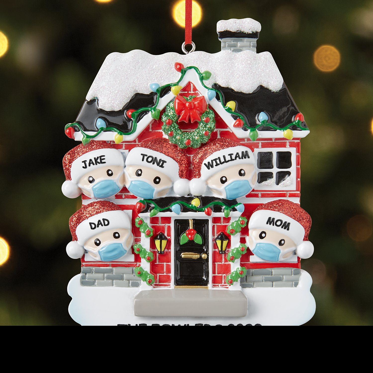 Christmas Home Stay Safe Family Ornaments