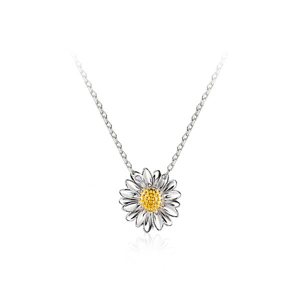 925 Sterling Silver Daisy Necklace