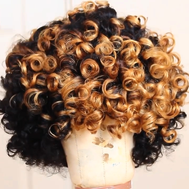 Lace Front Human hair Wig Dominican Curly