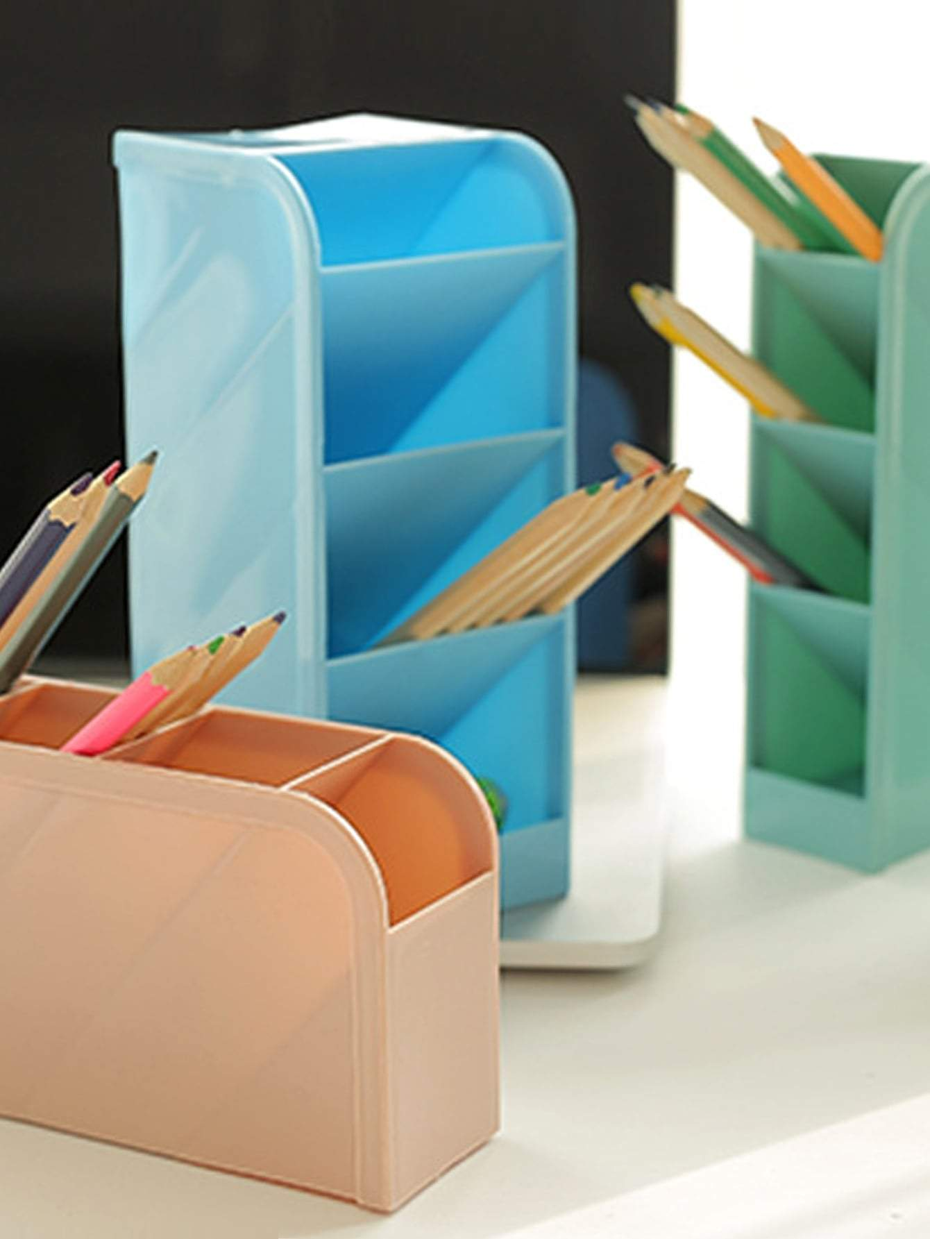 4 Grid Multifunction Pencil Holder 1pc