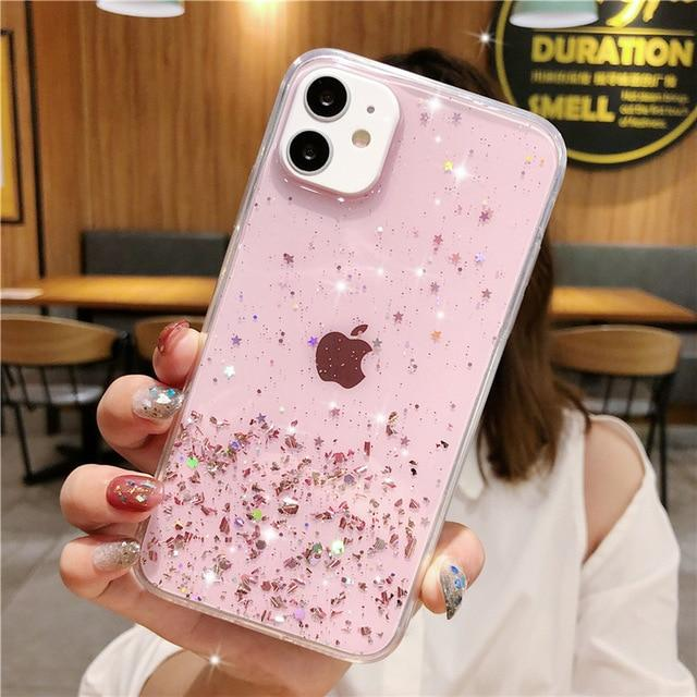 Colorful Glitter Plain Case