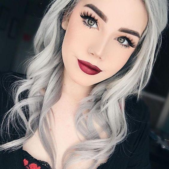 Gray Wigs Lace Frontal Wigs Eyebrow Pencil Color For Gray HairDark Ash Grey Hair Colour