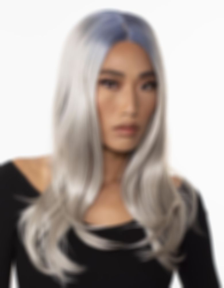 2021 New Lace Front Wigs Rose Pink Wigs Blending Grey Hair With Highlights Black Hair White Skin