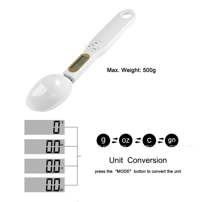 Coffee milk powder spoon Scale Kitchen Baking electronic spoon scale feeding dog pet feed metering spoon