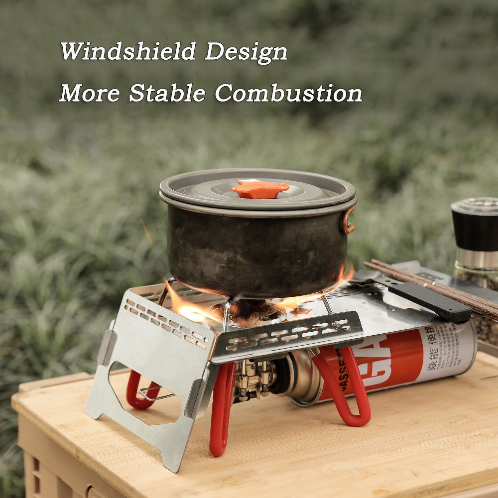 Windproof stove table insulated picnic folding table