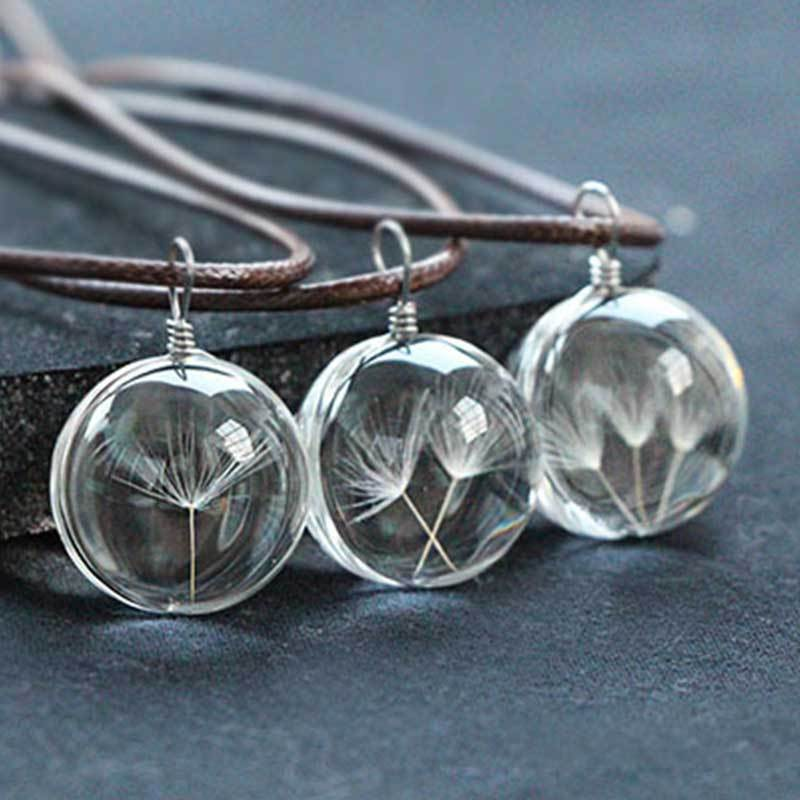 Dandelion Time Round Oval Necklace