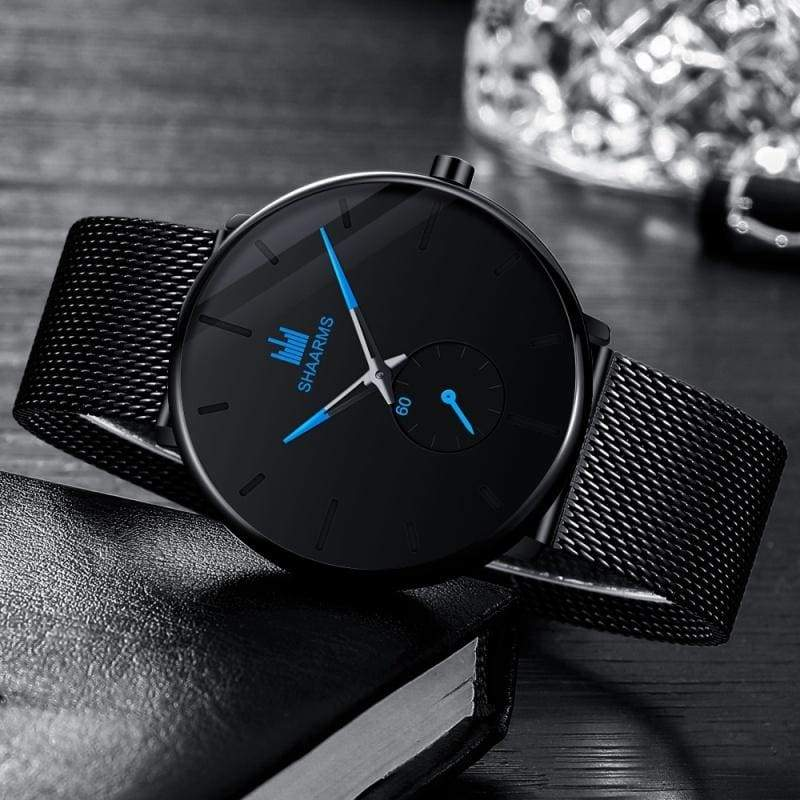 SHAARMS Fashion Watch Clock Men Casual Sport Quartz Clock Mens Watches Luxury Business Watch Birthday Gift Relojes Hombre