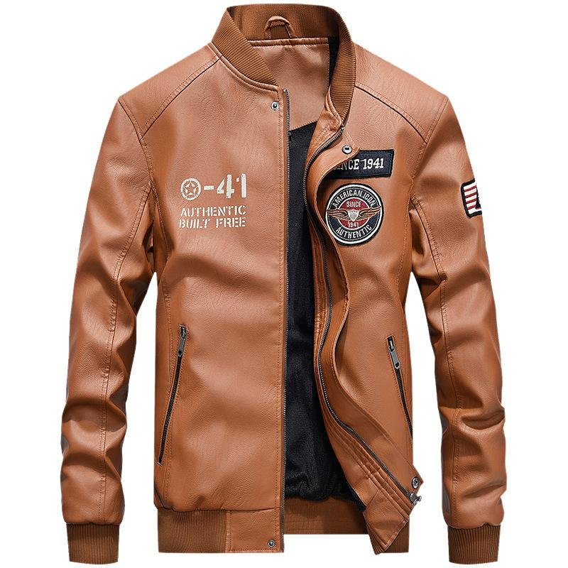 High Quality Fashion Windshield Men Leather Jacket