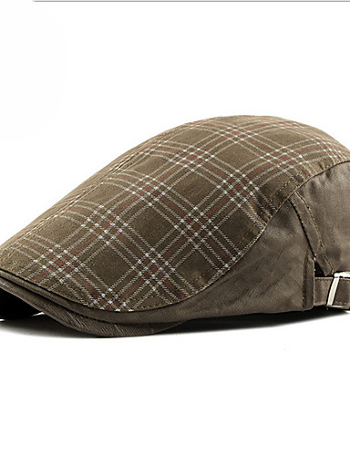 Men's Unisex Basic Polyester Beret Hat-Solid Colored Fall Army Green