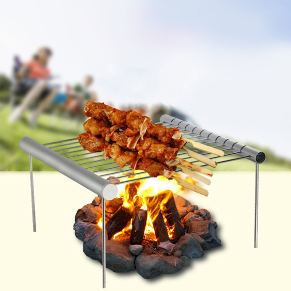 Ultra Portable Folding BBQ Grill For Outdoor Hiking Trekking Camping