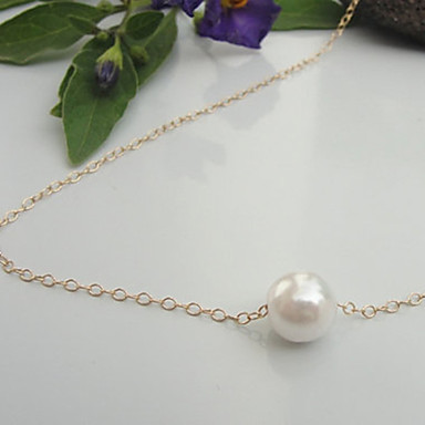 Women's Pearl Pendant Necklace Statement Necklace Pearl Necklace Floating Cheap Dainty Ladies Simple Fashion Pearl Alloy Gold Silver Necklace Jewelry For Party Special Occasion Birthday