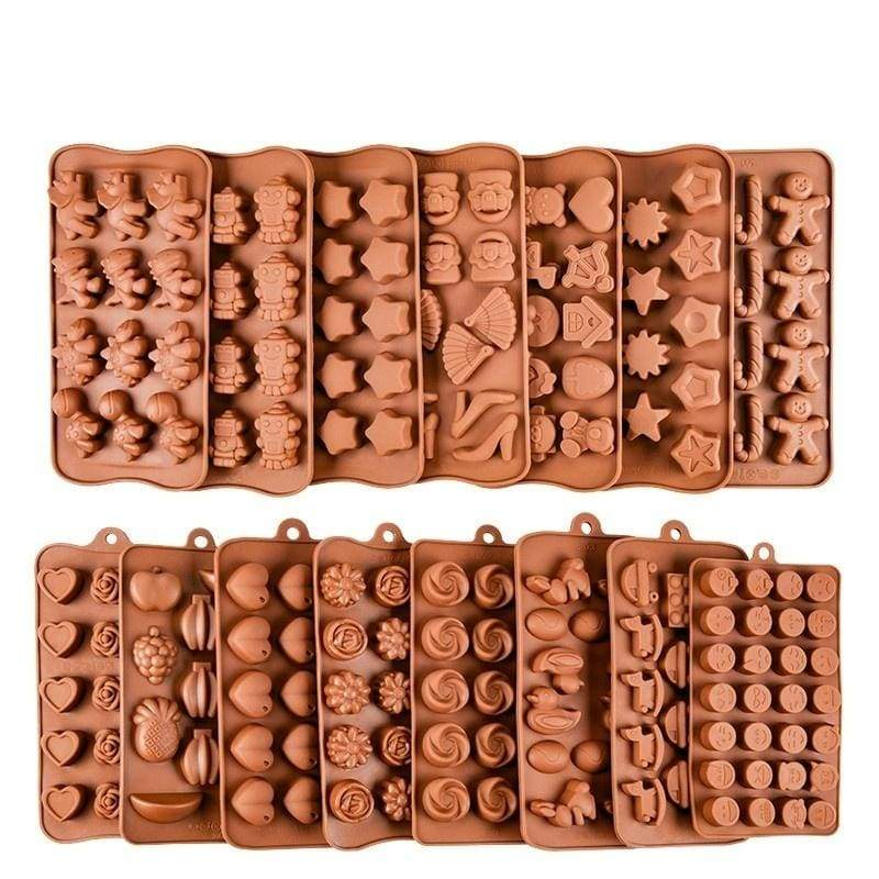 2019 Silicone Chocolate Mold 18Shapes Chocolate Baking Tools Non-stick Cake Mold