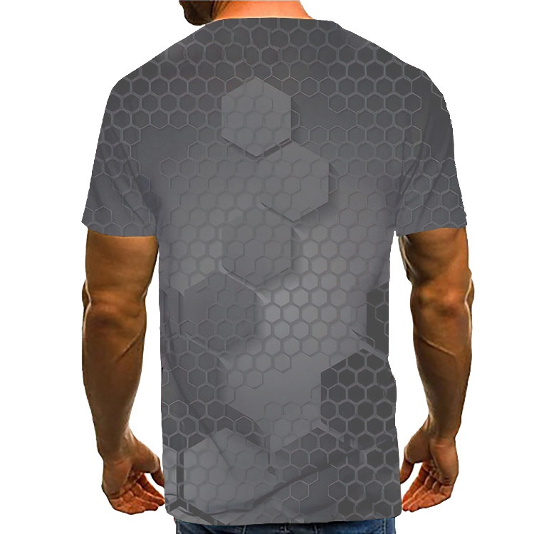 Trendy men's T-shirt digital 3D printed T-shirt, fashionable men summer short sleeve T-shirt,summer men tops