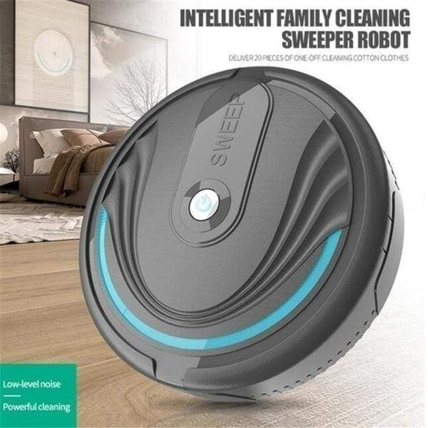 New mini home-style intelligent automatic sweeping robot vacuum cleaner automatic cleaning vacuum cleaner, can be used in office kitchens and other places (charging)