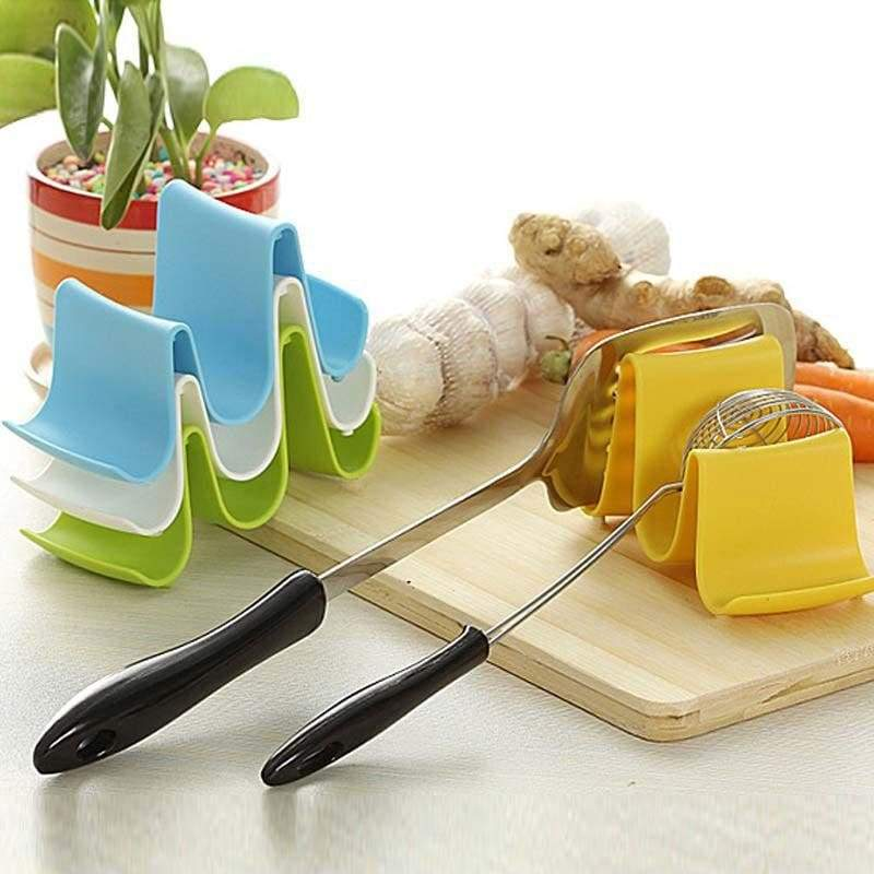 Holder stand ladle storage wave pan racks spoon lid kitchen holder plastic family